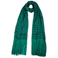 Green Wrinkled double sided Shawl FS034