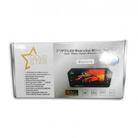 Bluetooth Rear View Mirror Gold Star AU041