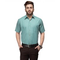 Koolpals Men's Regular Fit Formal Shirt- Green GN006
