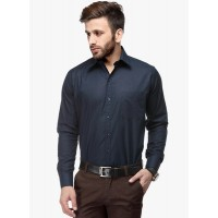 Koolpals Men's Regular Fit Formal Shirt-Dark Blue GN009