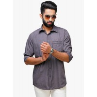 Yepme Men's Regular Fit Casual Shirt-Grey GN015