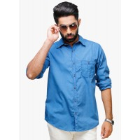 Yepme Men's Regular Fit Casual Shirt-Blue GN016