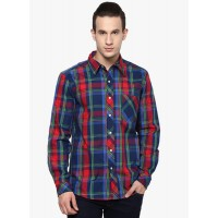 Yepme Men's Red and Blue Casual Shirt (GN019)