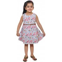 Pari and Prince Girls Frock Multicolor Sleeveless