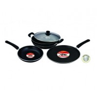 Mr Plus Kadai with Glass Lid and Tawa and Frypan Combi Offer