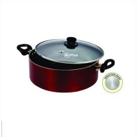 Mr Plus Induction Base Biriyani Pot 4 Ltr With Glass Lid