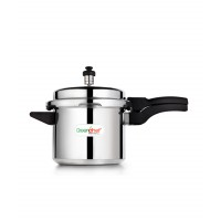 Pressure Cooker Durable Silver Aluminium 5 Ltrs Outer Lid Greenchef HM018