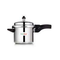 Pressure Cooker Durable Silver Aluminium 3 Ltrs Outer Lid Greenchef HM019