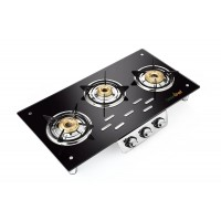 Greenchef Glasstop Unique Frameless 3 Burner Gas Stove HM006