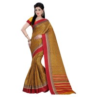 Vismay Printed Khadi Silk Saree with Unstitched Blouse FS631
