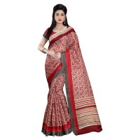 Vismay Printed Khadi Silk Saree with Unstitched Blouse FS632