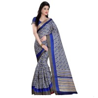 Vismay Printed Khadi Silk Saree with Unstitched Blouse FS633