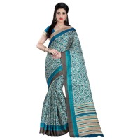 Vismay Printed Khadi Silk Saree with Unstitched Blouse FS634