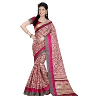 Vismay Printed Khadi Silk Saree with Unstitched Blouse FS635