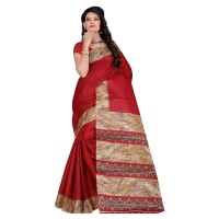 Vismay Printed Khadi Silk Saree with Unstitched Blouse FS636