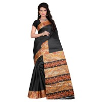Vismay Printed Khadi Silk Saree with Unstitched Blouse FS637