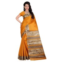 Vismay Printed Khadi Silk Saree with Unstitched Blouse FS638