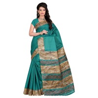 Vismay Printed Khadi Silk Saree with Unstitched Blouse FS639