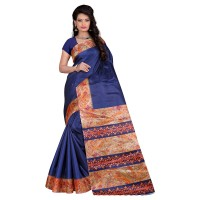 Vismay Printed Khadi Silk Saree with Unstitched Blouse FS640