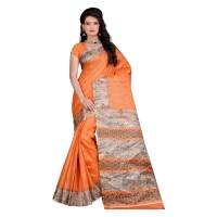 Vismay Printed Khadi Silk Saree with Unstitched Blouse FS641