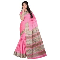 Vismay Printed Khadi Silk Saree with Unstitched Blouse FS642
