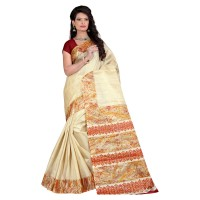Vismay Printed Khadi Silk Saree with Unstitched Blouse FS643