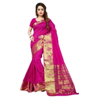 Vismay banarasi silk patta with golden border FS644