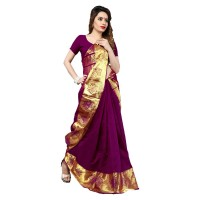 Vismay banarasi silk patta with golden border FS651