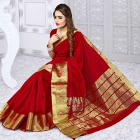 Vismay banarasi silk patta with golden border FS652