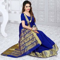 Vismay banarasi silk patta with golden border FS654