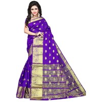 Vismay banarasi silk butty with golden border FS656