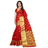 Vismay banarasi silk butty with golden border FS658