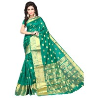Vismay banarasi silk butty with golden border FS659