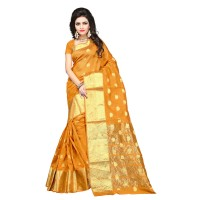 Vismay banarasi silk butty with golden border FS660