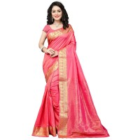 Vismay Banarasi silk weaving saree with golden border FS665