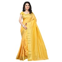 Vismay Banarasi silk weaving saree with golden border FS666
