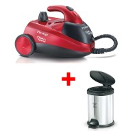 Prestige Clean Home Steam Cleaner Plus Stainless Steel Dust Bin Combo