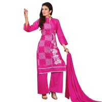 Embroidered Unstitched Cotton Churidar Material 005