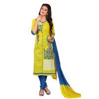 Embroidered Unstitched Cotton Churidar Material 011