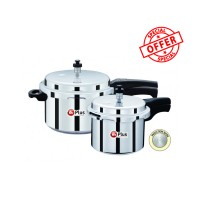 Mr Plus Pressure Cooker 3 Ltr and 5 Ltr Combi Popular Induction Base